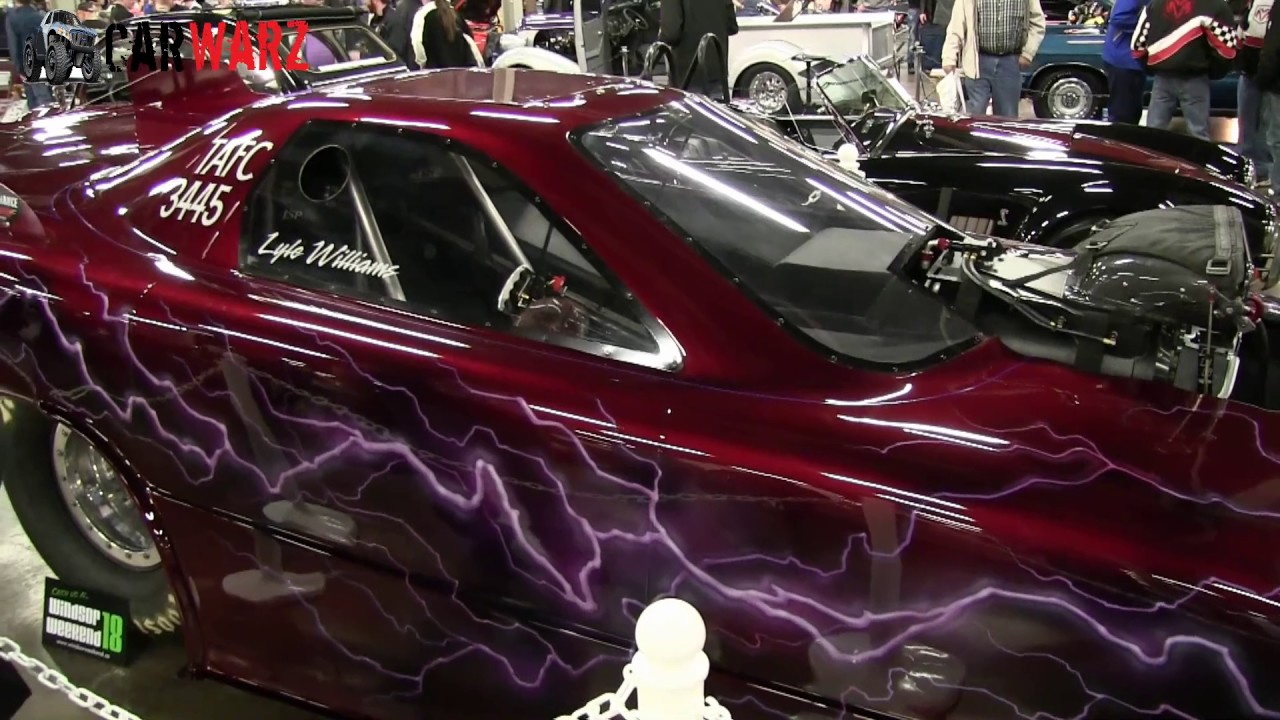 2002 pontiac firebird drag car at the speed and custom car show london ontario 2017
