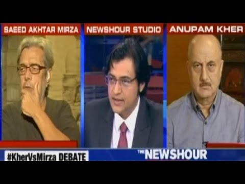 Saeed Akhtar Mirza Vs Anupam Kher On Pakistani Artists In India: The Newshour Debate (5th Oct)