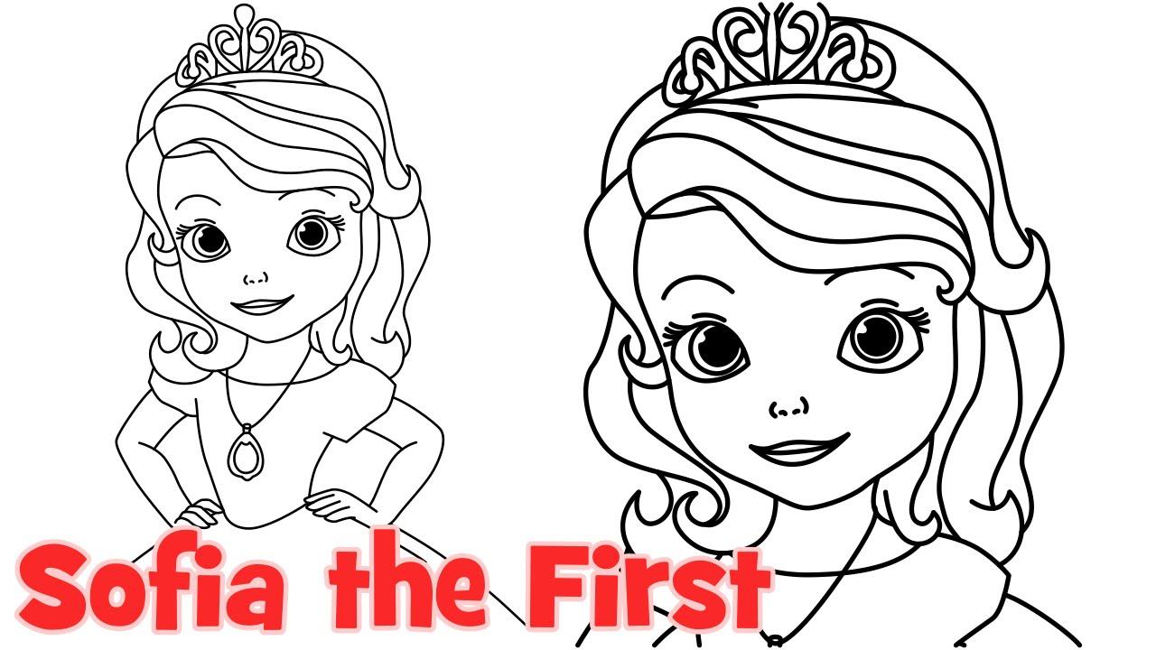 How to draw Princess Sofia the First - Как нарисовать принцессу Софию 0d31cb4ae6e24