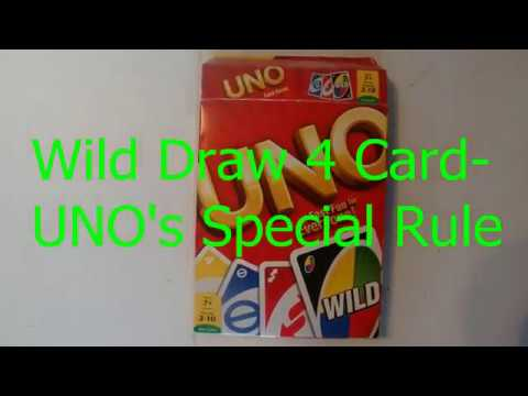Uno's Special Rule for the Wild Draw 4 Card - How to Play Uno - Tutorial -  Step by Step Instructions