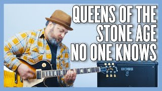 Queens Of The Stone Age No One Knows Guitar Lesson + Tutorial