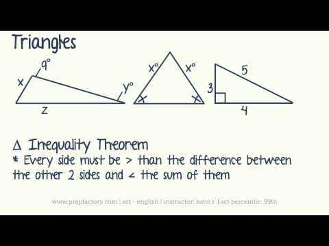 ACT Math -  Plane Geometry - Triangles (Part 1 of 2)