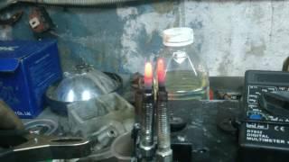 Работа свечей накала