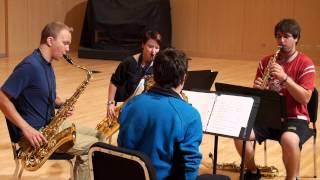 2013 10 04 NMU Sax Quartet   Yakety Sax Benny Hill Theme HD 720p