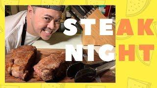 PAN SEARED NY Strip Steak | Simple Steak Recipe | Amateur Chef | Vid#95