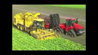 Modern Agriculture Primitive Machines Smart Technology Tractors Harvesting