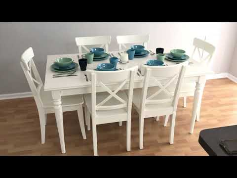 Ikea Dining Room Table Review Fits 6 8 People Youtube