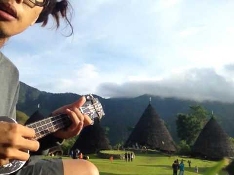 Indonesia Pusaka  w/ ukulele @Wae Rebo Village, Flores Islands
