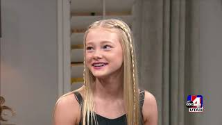 Rylee Arnold (DWTS Junior) Interview On ABC4 Utah