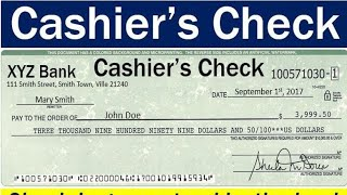 What is Cashiers Cheque