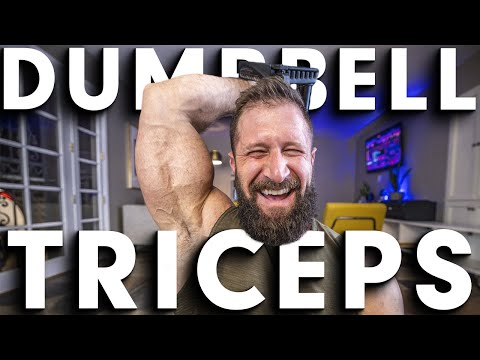 BEST Home Dumbbell Triceps Exercises (YOU ONLY NEED 15lbs!!)
