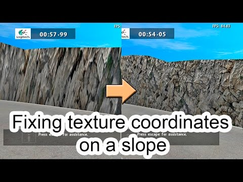 Fixing texture coordinates on a slope.