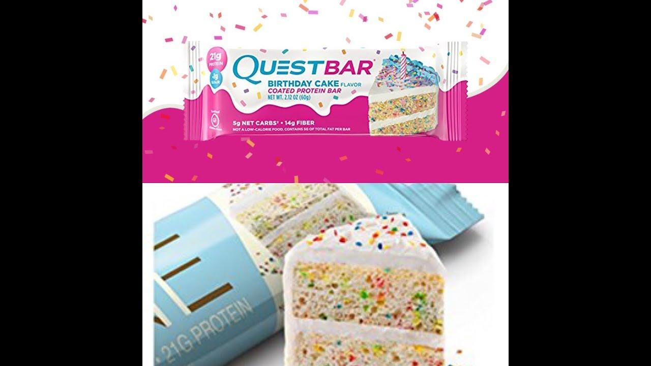 Ultimate Taste Test Quest Bar Birthday Cake Or ONE Bar Birthday