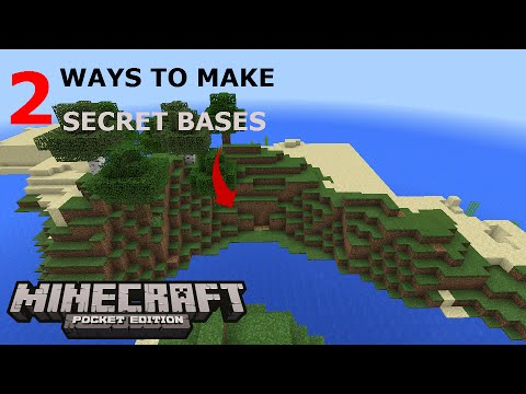 how to make a secret base in minecraft pe