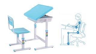 โต๊ะเก้าอี้เด็ก - โต๊ะเขียนหนังสือเด็ก แบบ Ergonomic Smart Kids Desk