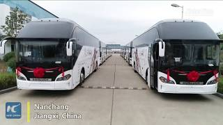 Chinese-made luxury buses delivered to Mideast market