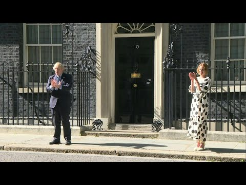 AFP News Agency: British prime minister and Clap for Carers founder clap for the NHS | AFP
