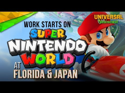 Work Starts on Super Nintendo World Florida & Japan - Universal Studios News 07/14/2017