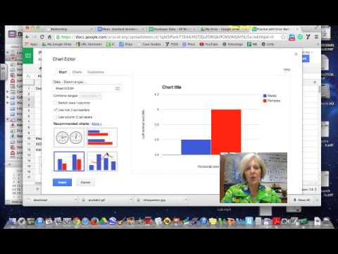 how to put graphs on google docs