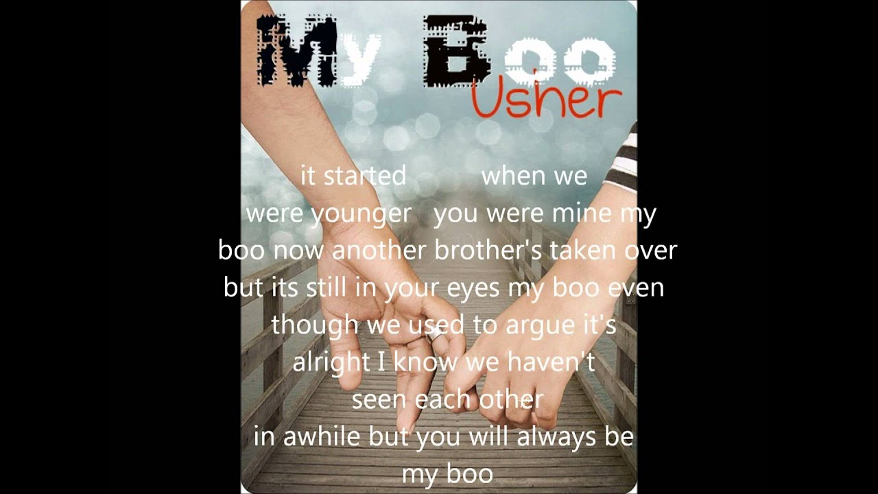 My Boo Usher Ft Alicia Keys Lyrics - YouTube