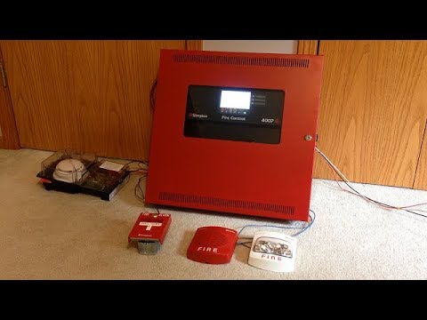 Simplex 4007ES Fire Control Panel Demonstration and Test