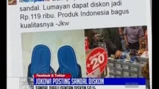 Usai Payung Biru, Kini Jokowi Posting Sandal Biru di Facebook dan Twitter - BIS 05/12