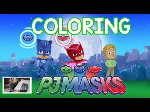 PJ MASKS COLORING with Ryder - NtenseKid - HOW TO COLOR PJ MASKS - 동영상