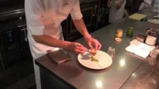 Chef Namae prepares a turnip dish at L'Effervescence in Tokyo