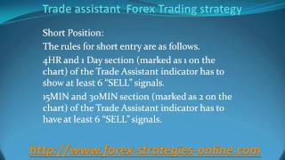 Trade assistant  Forex Trading strategy