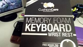 Memory Foam Keyboard wrist rest and mouse pad set