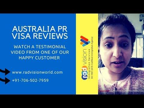 Radvision World Consultancy Reviews - A Happy Client Testimonial on Australia PR Visa