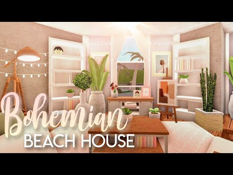 bloxburg|-bohemian-beach-home-|-house-build