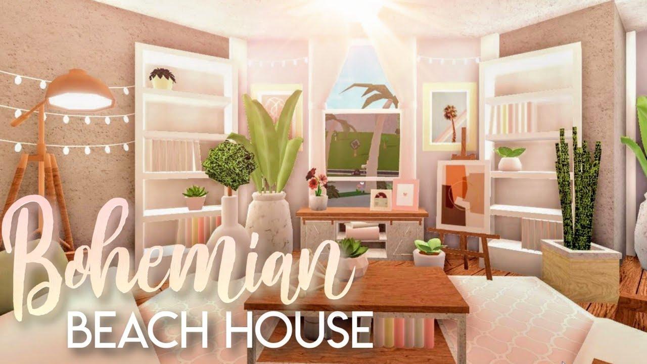 Bloxburg Bohemian Beach Home House Build Youtube