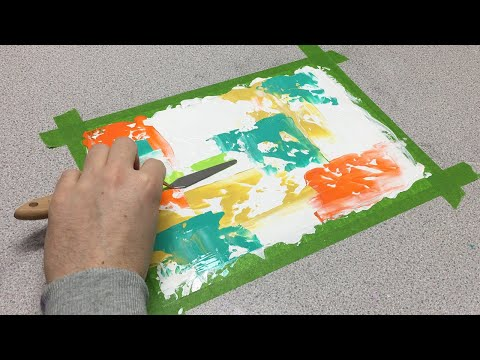 Abstract Painting – A4 Abstract Challenge Video 5