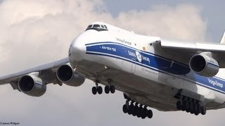 (RARE!!) Volga Dnepr Airlines Antonov An-124-100 ORD Arrival