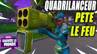 The Quadrilanceur farts fire: o! Fortnite Save the World