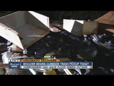 Curbside Pickup Of Flood Debris Begins In Boulder