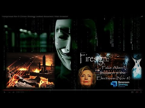 Clinton - BSG 'Alien Invasion' Election Day Strategy Leaked - Anonymous [HD] (4∶24)➤