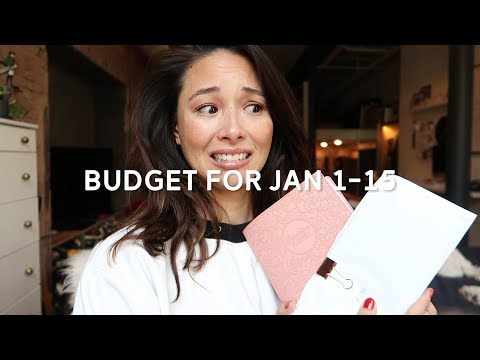 My Bi-Monthly Budget for January 2018 | How To Budget | aja dang