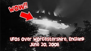 UFOs over Worcestershire, England - June 20, 2008