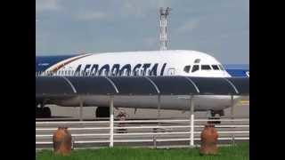 Último vuelo del YV139T de Aeropostal (en Valencia)