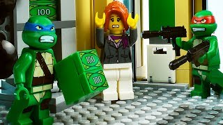 LEGO TMNT Bank Robbery - Ninja Turtles Stop Motion