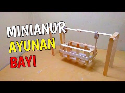 KREATIF - cara membuat miniatur ayunan bayi dari stik es krim