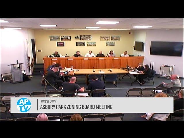 Asbury Park Zoning Board Meeting - July 9, 2019