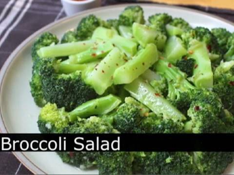 The Best Broccoli Salad - Garlic Lemon Chili Broccoli Salad Recipe : Foodwishes