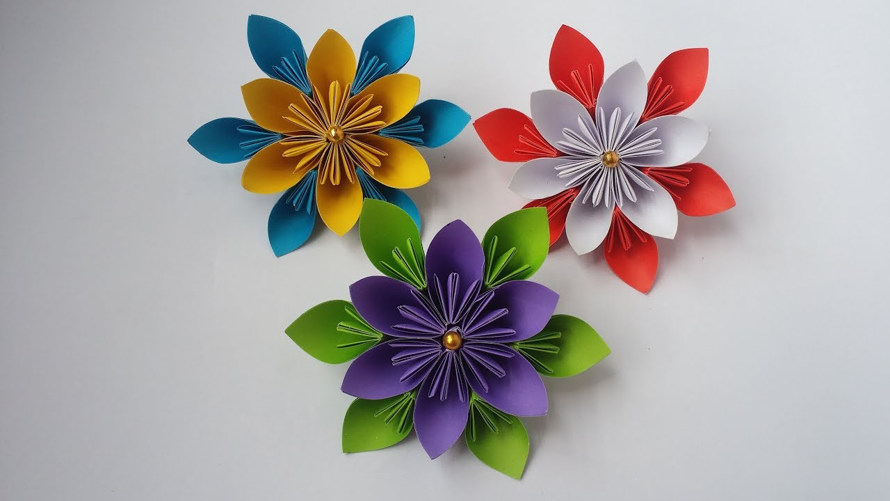 Diy how to make kusudama paper flower easy kusudama flower diy how to make kusudama paper flower easy kusudama flower making for beginners mightylinksfo