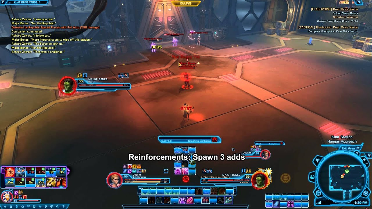 SWTOR Major Benes - Kuat Drive Yards Flashpoint - YouTube