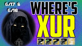 where s xur xurs location today june 17 june 18 6 17 6 18