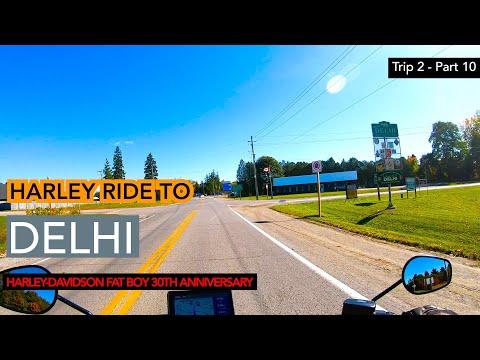 Trip 2 Part 10: Riding to Delhi Ontario on Harley-Davidson Fat Boy 30th Anniversary, HD-S1E23
