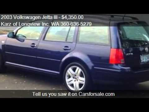 2003 Volkswagen Jetta III GLS WAGON - for sale in Longview,